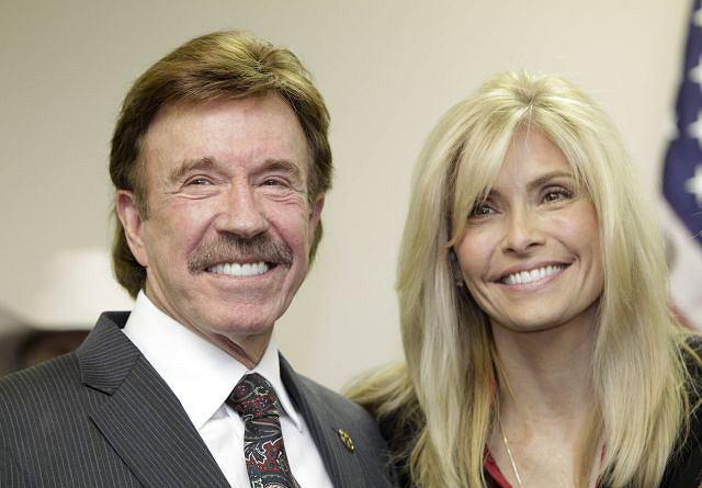 Chuck Norris z żoną Geną