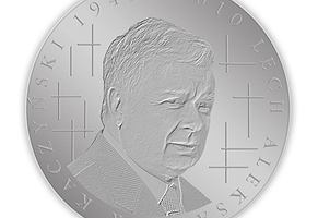 Nowa moneta: z Lechem Kaczy�skim w�r�d krzy�y
