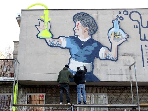 Namaluj sk odowsk curie na 39 patelni 39 konkurs na mural for Mural ursynow