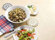 Sałatka z bobu z oliwkami - ugotuj