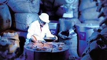 Jeden z pracowników w fabryce Bombay Sapphire
