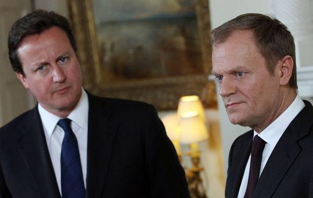 Premierzy David Cameron i Donald Tusk w Londynie
