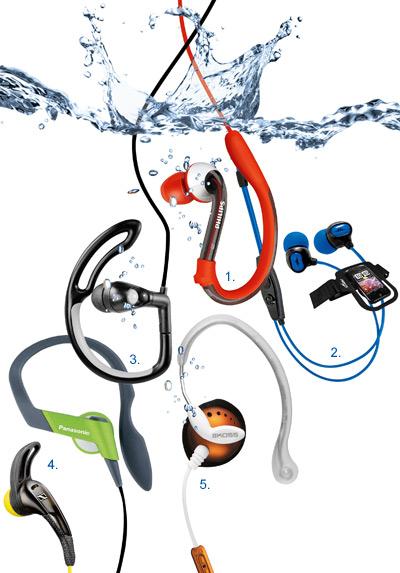 mp3, słuchawki, wododporne, do pływania,