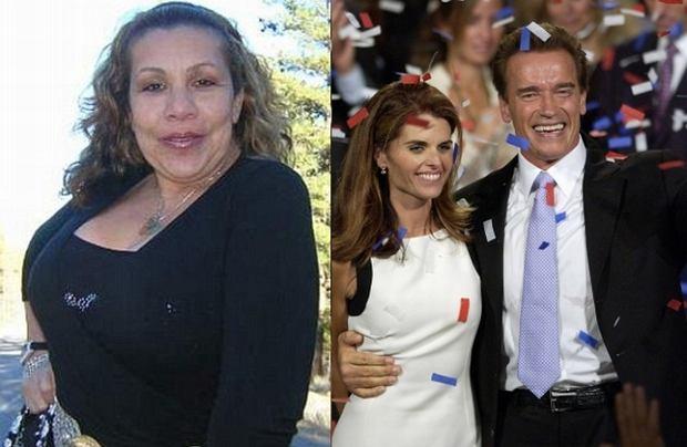 Mildread Baena, Maria Shriver i Arnold Schwarzenegger