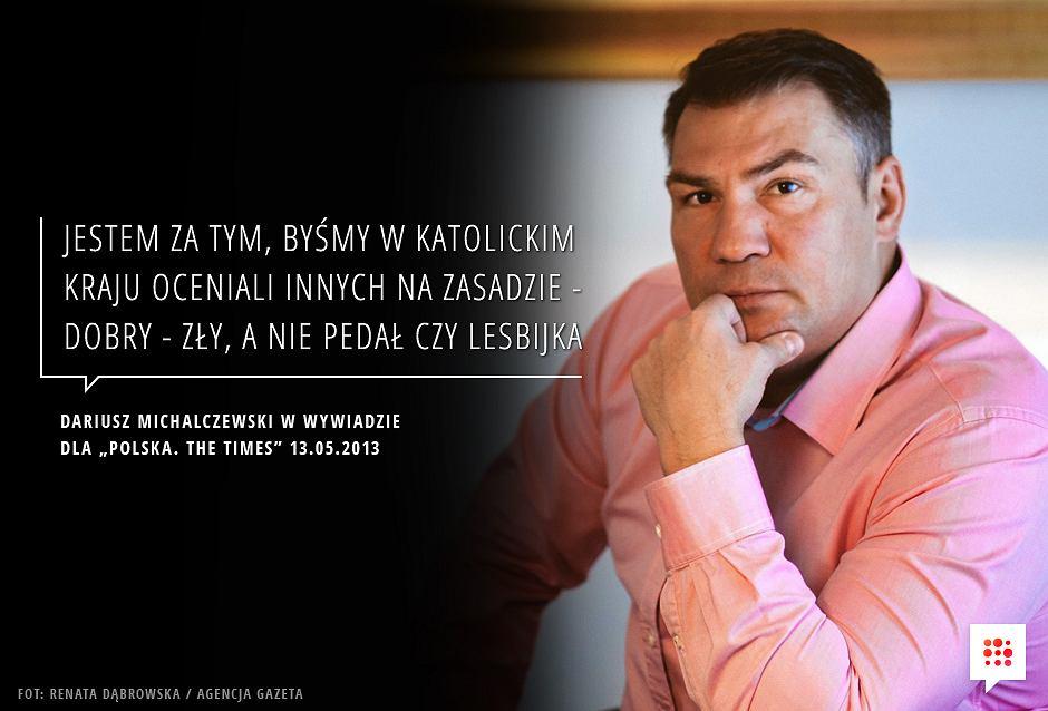 Dariusz Michalczewski o moralności - Gazeta.pl | fot. Renata Dąbrowska / Gazeta.pl - null