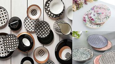 Kolorowe i wzorzyste talerze