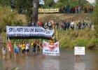 7,5 tys. ludzi z 27 kraj�w. Protestowali przy granicy z Niemcami, bo nie chc� tam kopalni [WIDEO]