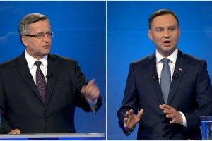 """Debata prezydencka Duda - Komorowski. Twitter: """"Duda walczy o remis"""". """"W pytaniach własnych - Komorowski nokautuje Dudę"""""""