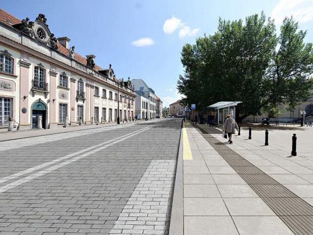 Ulica Miodowa po remoncie - wizualizacja.