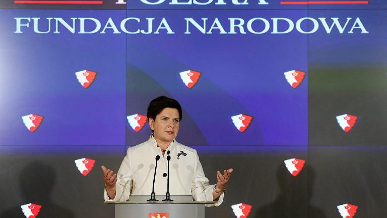 Premier Beata Szydło oglasza powstanie Polskiej Fundacji Narodowej