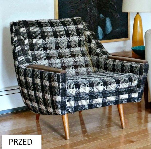 Fotel przed zmianą tapicerki