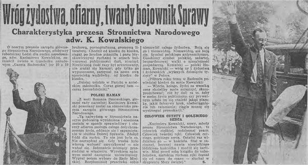 """Wojewoda mianowany przez PiS chciał uhonorować antysemitę. Wycofał się dopiero po tekście """"Wyborczej"""""""