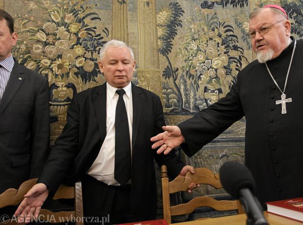 Spotkanie Jaros�awa Kaczy�skiego z ksi�dzem Antonim Dydyczem
