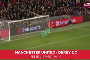 Manchester United - Derby County 2-0. Bramka na 1:0 autorstwa Jesse Lingarda [Eleven Sports]