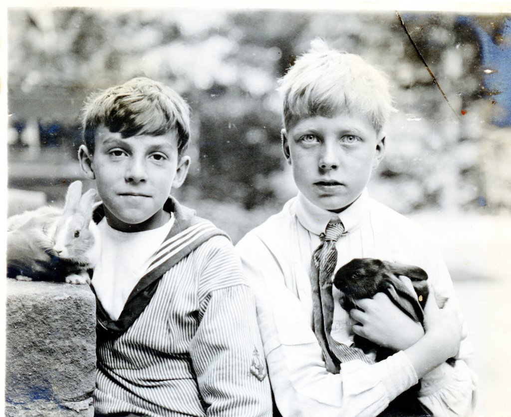 Louis Hardouin Jr (Lulu) i jego przyjaciel, hrabia Alexander von Hochberg (fot. Louis Hardouin)