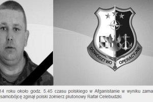 Polski �o�nierz zgin�� w zamachu w Afganistanie. Dw�ch innych Polak�w lekko rannych