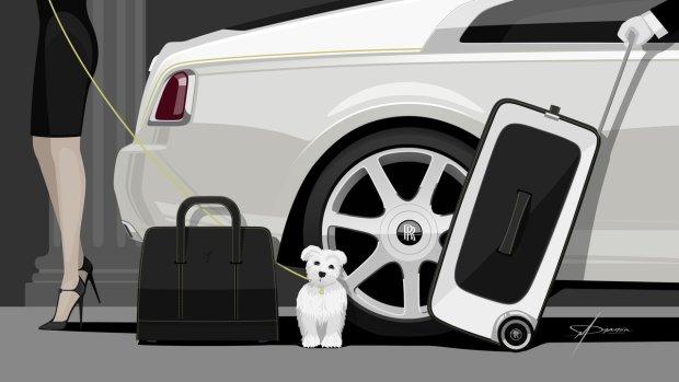 Luksusowy zestaw walizek od Rolls-Royce