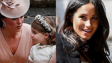Księżna Kate z księżniczką Charlotte  / Meghan Markle