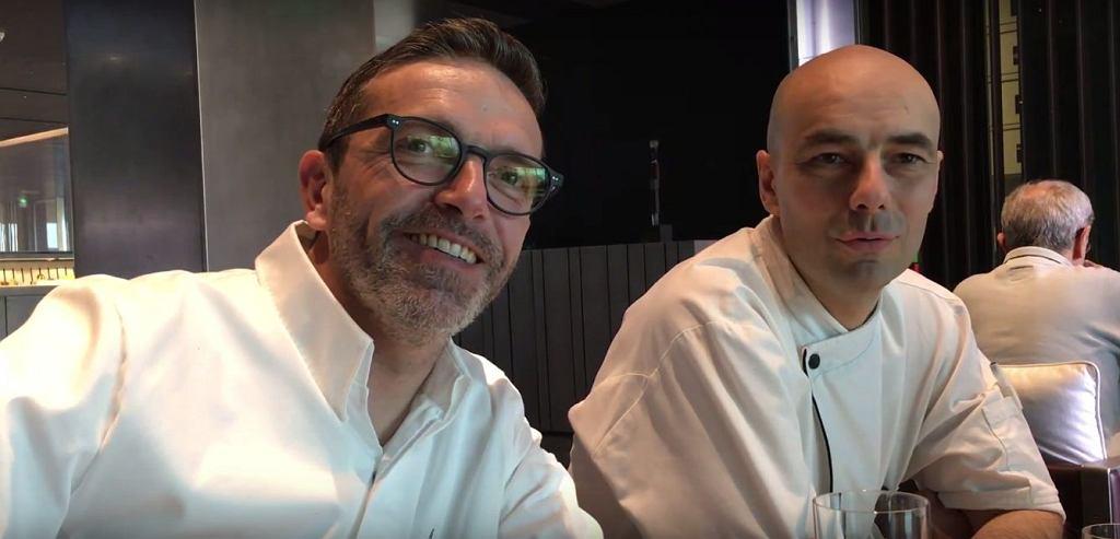 Sébastien Bras (po lewej) i Christophe Chaillou w Café Bras
