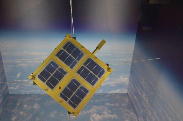 Satelita Hewelisz w przestrzeni kosmicznej. Na kartach pami�ci zdj�cia gda�szczan