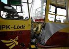 ��d�: zderzenie dw�ch tramwaj�w. Kilkana�cie os�b poszkodowanych