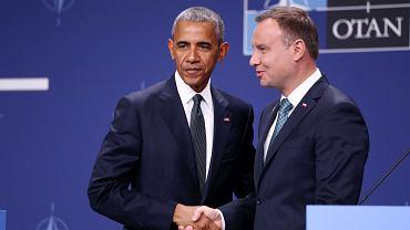 Barack Obama i Andrzej Duda podczas pierwszego dnia szczytu NATO