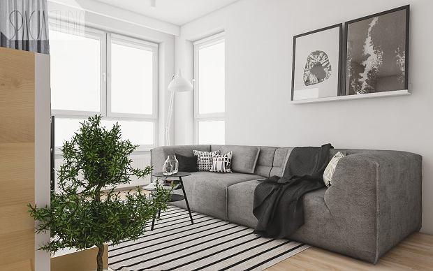 Małe mieszkanie pomysłowo urządzone. 29 metrów i oryginalny aneks sypialny