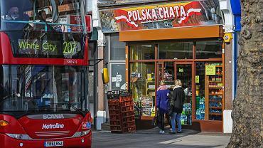 Dzielnica Ealing w Londynie . Polskie sklepy .