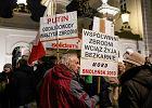 Nerwowe obchody miesięcznicy smoleńskiej na Krakowskim Przedmieściu