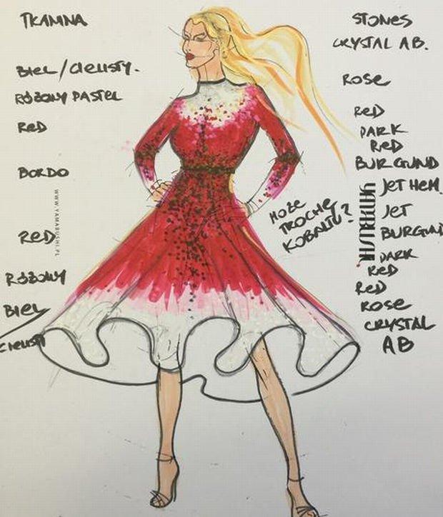 Suknia Marceliny Zawadzkiej zaprojektowana przez Malwinę Wędzikowską