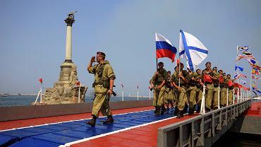 Krym. Rosja oskarża Ukrainę o wtargnięcie na swoje terytorium. Na zdjęciu: rosyjska marynarka