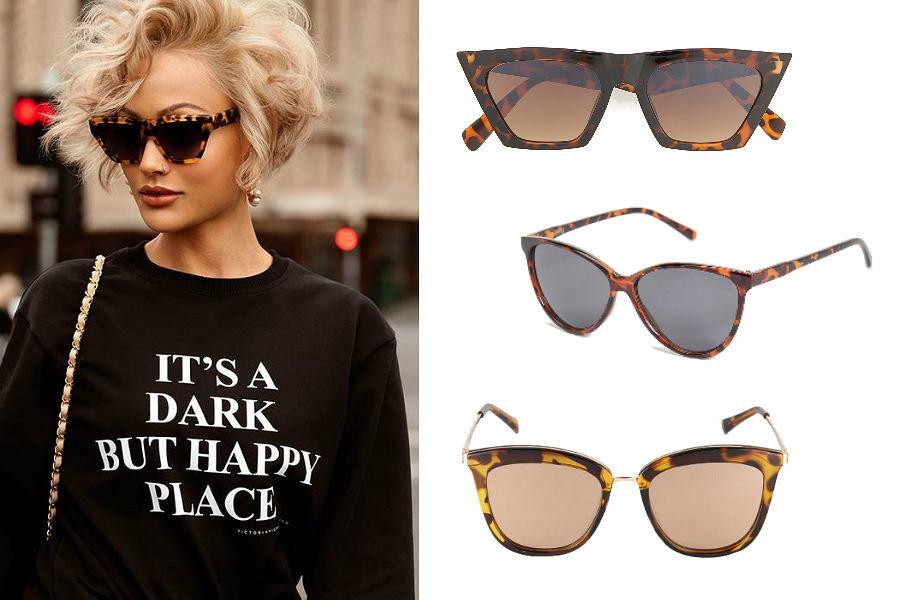 kocie okulary przeciwsłoneczne