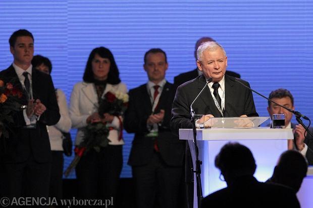 Jaros�aw Kaczy�ski na kongresie w Sosnowcu
