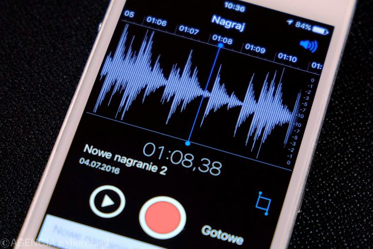 Dyktafon w smartfonie