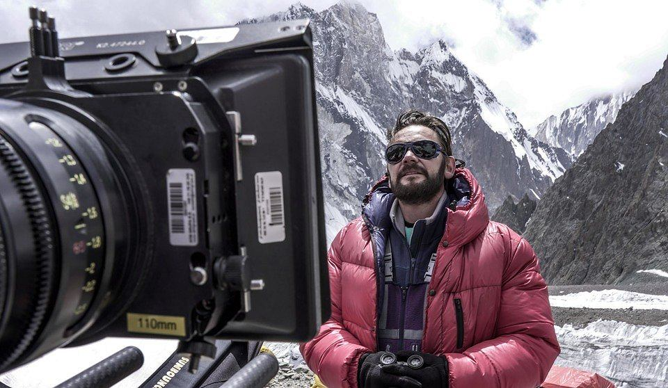 Ireneusz Czop na planie filmu 'Broad Peak' / Fot. Leszek Dawid