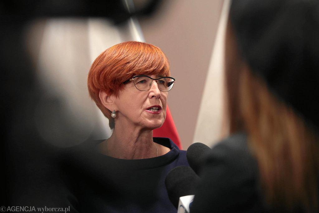 Kielce, 10 października 2018 roku, Świętokrzyski Urząd Wojewódzki. Wizyta minister Elżbiety Rafalskiej