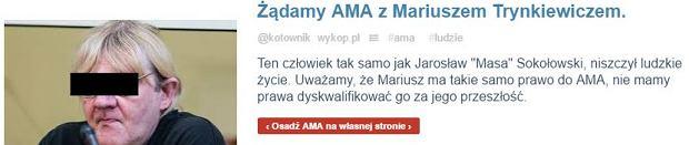 Społeczność Wykopu oburzona sesją AMA z Masą