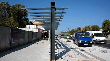 Kielce, budowa przystanków autobusowych przy ul. Żytniej