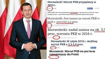 Wicepremier Morawiecki i jego prognozy