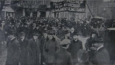 Sufrażystki w Krakowie. Dzień Kobiet w 1911 r.