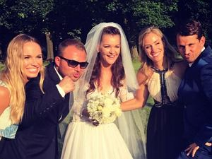 Caroline Wozniacki i Angelique Kerber na weselu Agnieszki Radwańskiej