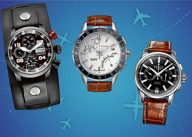 Aviator professional edition Chronograph, Timex SL Series 6-hand Fly-back Chrono i Zenith Pilot Chronograph