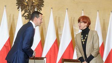 Ministrowie: finansów Mateusz Morawiecki i pracy Elżbieta Rafalska podczas posiedzenia Komitetu Ekonomicznego Rady Ministrów. Warszawa, 30 września 2016 r.