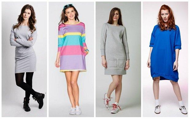 8ed644e901 Wygodne sukienki dresowe na co dzień
