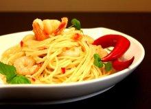 Spaghetti z Krewetkami i papryczką pepperoni - ugotuj