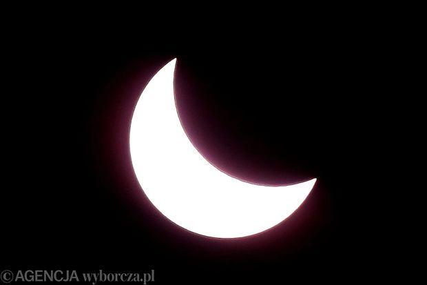 Częściowe zaćmienie Słońca w 2015 roku.