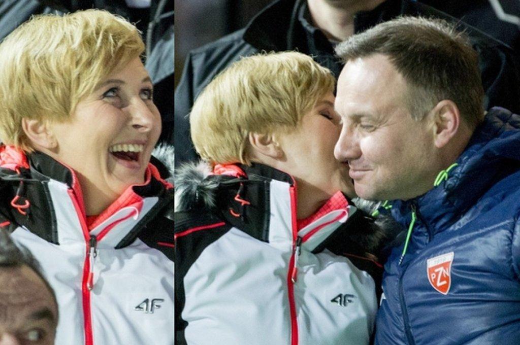 Agata Duda to uosobienie elegancji i spokoju. Rzadko publicznie daje się porwać emocjom. Jednak w niedzielę, podczas Pucharu Świata w Skokach Narciarskich, nawet jej udzielił się entuzjazm. Takiej pierwszej damy jeszcze nie widzieliśmy!