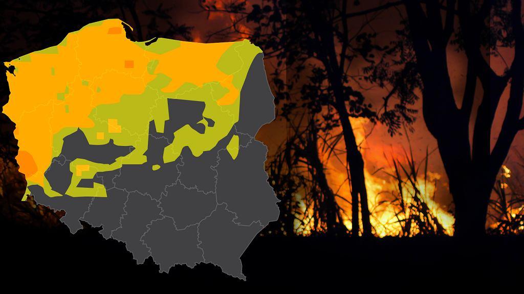 Pożary w Europie. Zagrożenie pożarowe w Polsce
