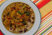 Warzywne curry z ry�em i groszkiem