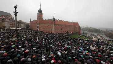 'Czarny protest' w Warszawie